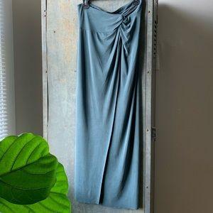 Sage Cynthia Rowley Strapless Maxi Dress
